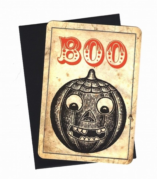 Vintage Halloween Note Cards