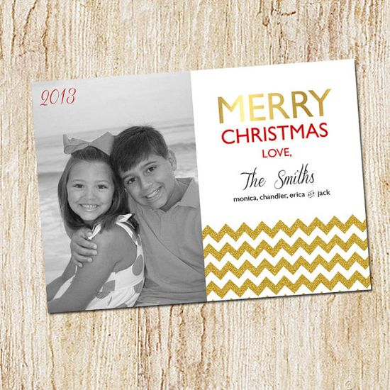 Photo Christmas Card  Digital file or Printed Cards by peachymommy, $15.00