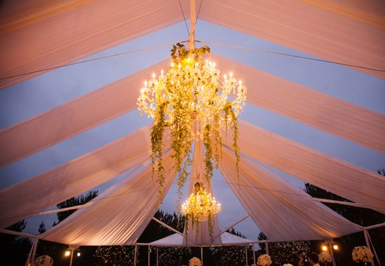 Chandelier Lighting // Photo: Samuel Lippke Studios and Allan Zepeda // Wedding Planning: Details Details // TheKnot.com