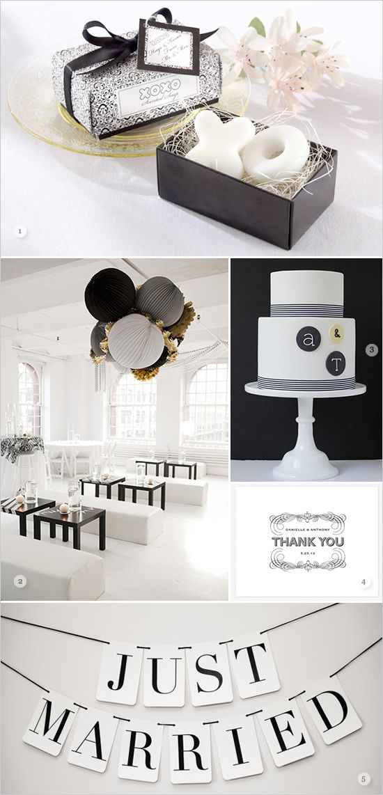 You know I love my black and white! black and white wedding ideas