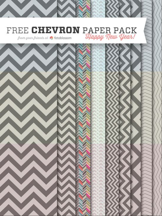 Free Chevron Paper Pack from fotoblossom.