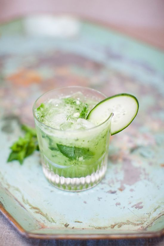tequila, cucumber sweet and sour, honeydew, lime, mint, soda #celebrateeveryday