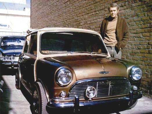 Steve McQueen and his Mini Cooper S - 1967
