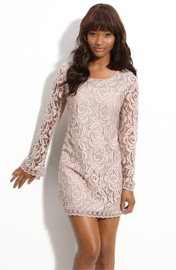 Fire lace shift dress. $48.00