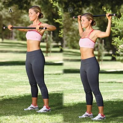 A light body bar is all you need for this feel-good back exercise