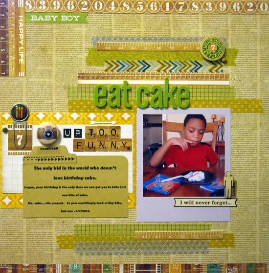 Eat Cake - Scrapbook.com