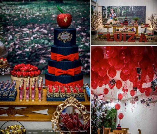 Snow White themed birthday party via Karas Party Ideas