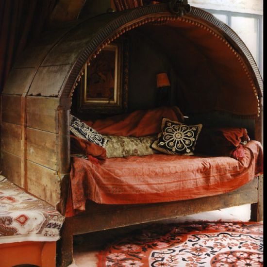 The bed of a nomad.