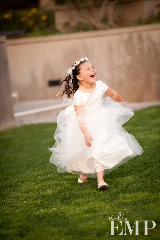 Such a happy little flower girl- we love! @Studio EMP Photography
