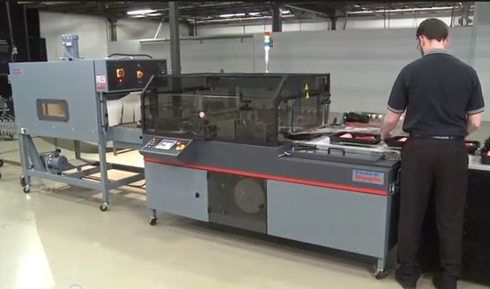 shrink wrap machine and tunnel
