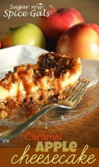 Caramel Apple Cheesecake on MyRecipeMagic.com #cheesecake #caramel #apple