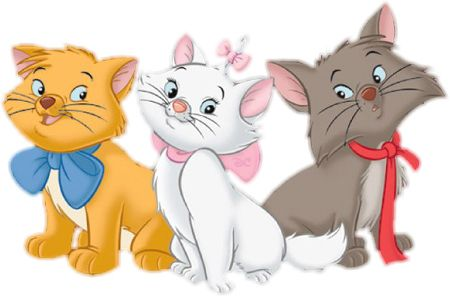 The AristoCats Marie, Toulouse and Berlioz