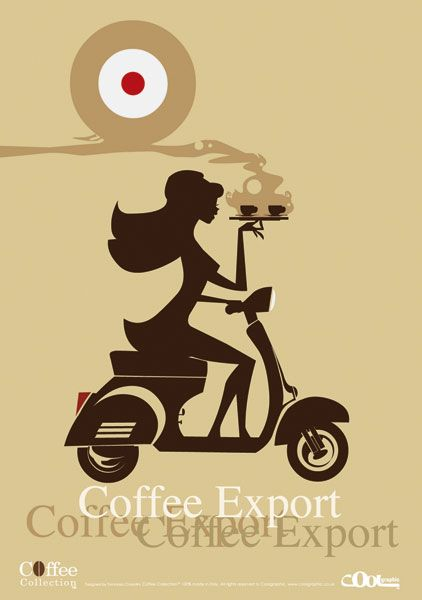 coffee wall art - coffe illustration vaspa canvas