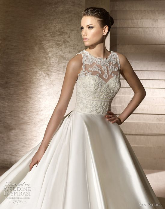 san patrick 2012 collection wedding dress - setubal lace bodice ball gown...love the top
