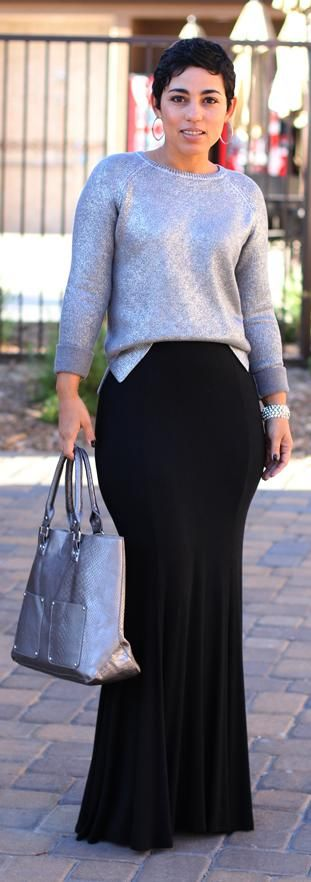DIY Skirt + Daytime Sparkle Sweater    DIY Skirt + Daytime Sparkle Sweater