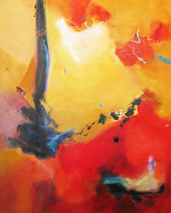 "Saatchi Online Artist: CECILIA ARROSPIDE; Oil, 2011, Painting ""JOY"""