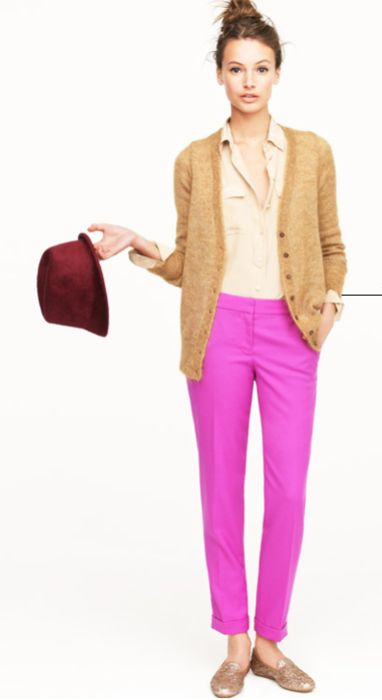 #jcrew #pink trousers #outfit inspiration