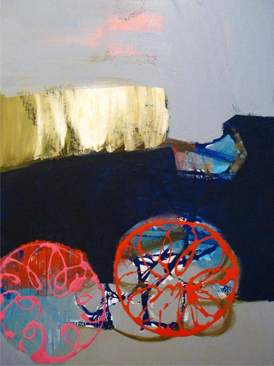 Original Painting Large Abstract Mixed Media Acrylic Art by Aisyah Ang Size 30x40 with Cert $480