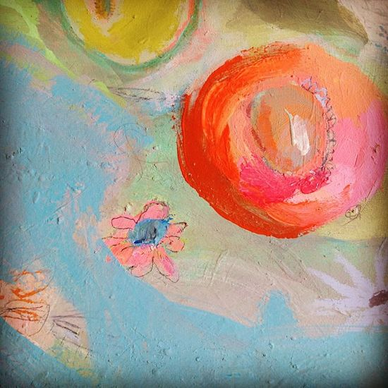 Happy spot- finishing up some new paintings!!! by pam garrison, via Flickr
