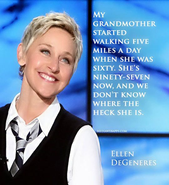 Another one of the many reasons Ellen is just too awesome for her own good.