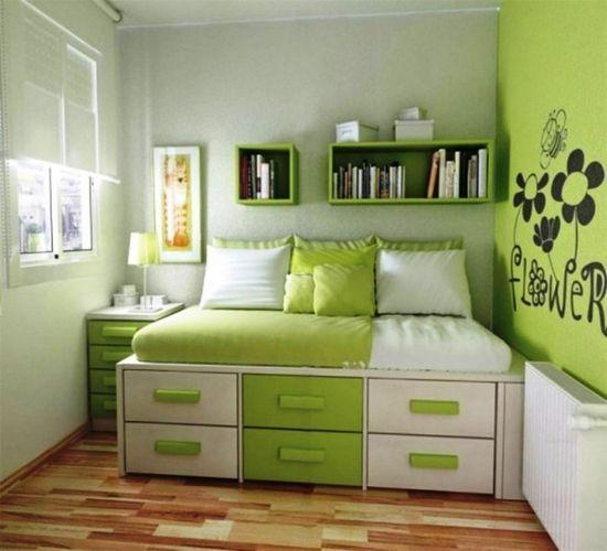Green Bedroom Decorating 659x600