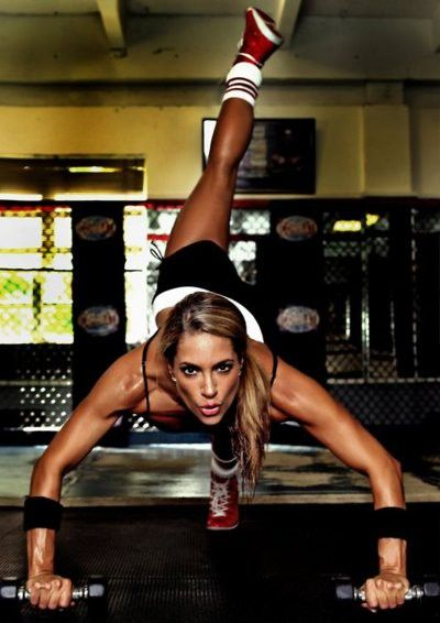 motivating website with awesome workouts and eating tips.
