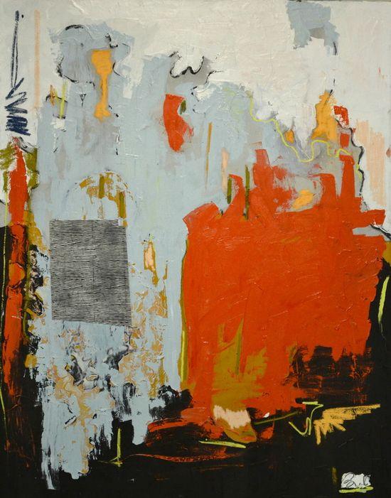 "Saatchi Online Artist: Brandi Hofer; Oil, 2012, Painting ""Bring on the Funk"""