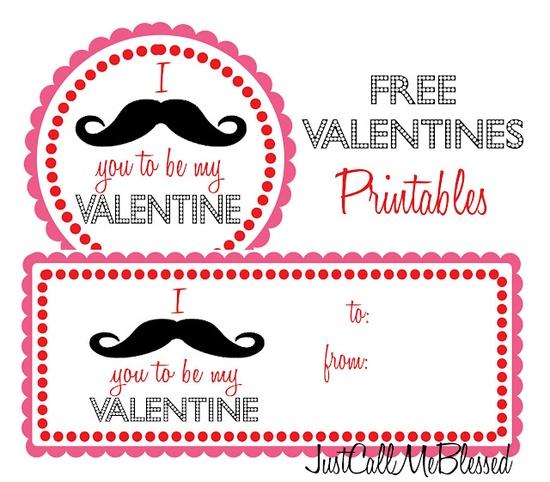 Printable Mustache Valentine :)