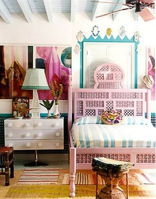 A big girl space with childlike flair. Interesting and so unique....LOVE every bit of it. #Bedroom #Pink