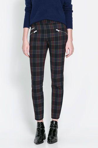 Skinny Trousers With Zip // Zara