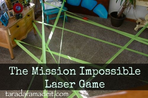 Mission Impossible Laser Game Boys Birthday party idea