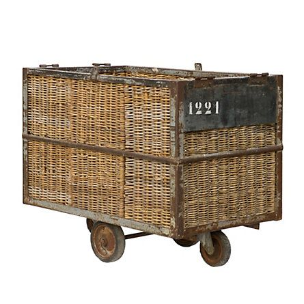 Originally used in Belgian factories to transport linens and fabrics