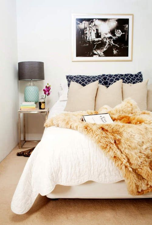 bedroom dream, need faux fur throw