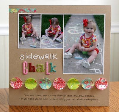 scrapbook inspiration: layout, use of colors and patterns together