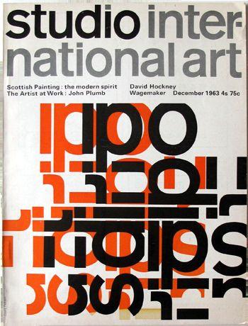 Magazine Studio International Art, design: David Pelham / 1963