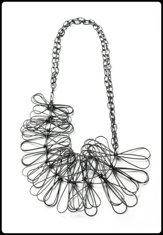 fringe necklace by Megan Auman