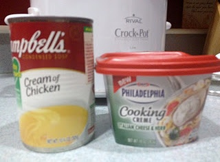 "Crockpot creamy italian chicken - a good ""fall back"" meal!"