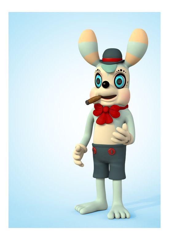 3D Character Design by Teodoru Badiu, via Behance