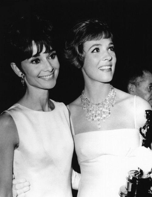Audrey Hepburn & Julie Andrews 1965.