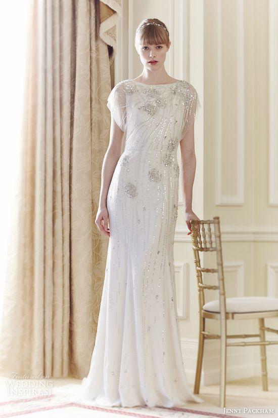jenny packham bridal spring 2014 rose wedding dress sequins crystals