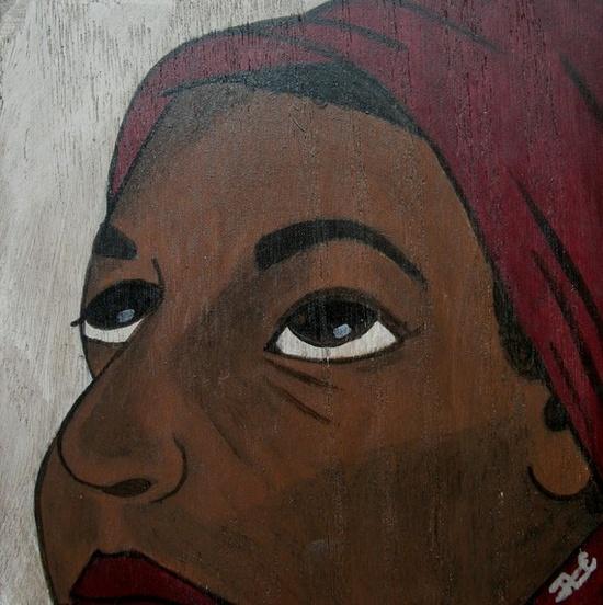 Original Acrylic Painting of African Girl