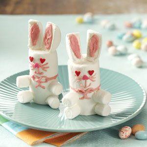 Easter Bunny Marshmallow Treats