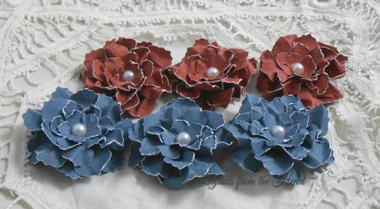 Handmade Paper Flowers Sweet and Shabby by LayoutsFromTheHeart