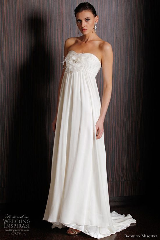 badgley mischka wedding dress 2011 - arlington strapless gown