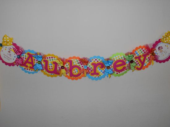 Chic Embossed LaLaLoopsy Party Collection Name by DukesandDivas