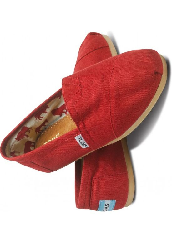 Red Toms Shoes  #tom