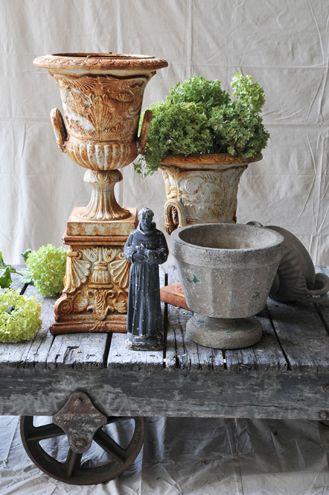 rusty urns