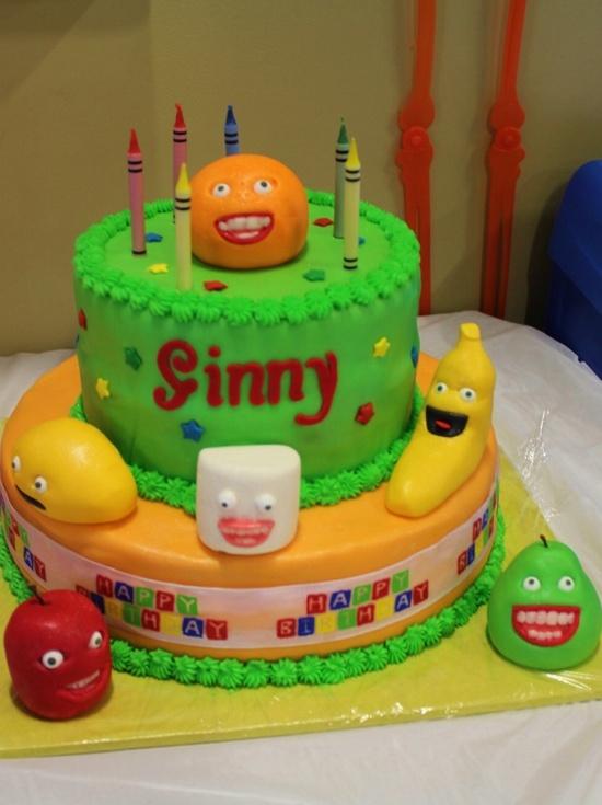 Annoying Orange Cake