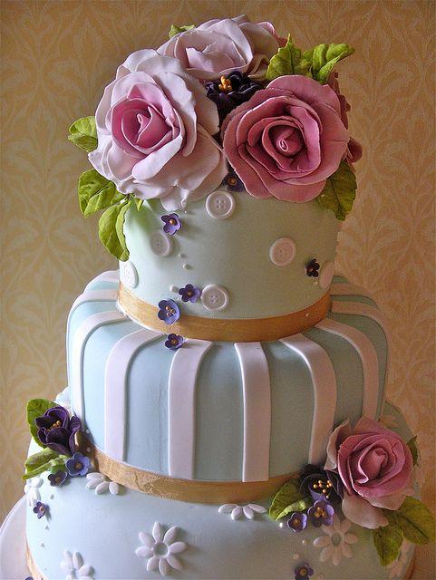 Pastel wedding cake by nice icing, via Flickr