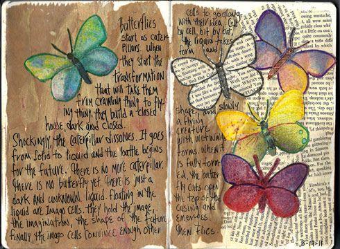 Journal Page:butterflies via Flickr